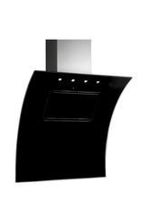 Black glass angled cooker hood